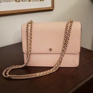 Tory Burch   Blush Leather Chain Bag
